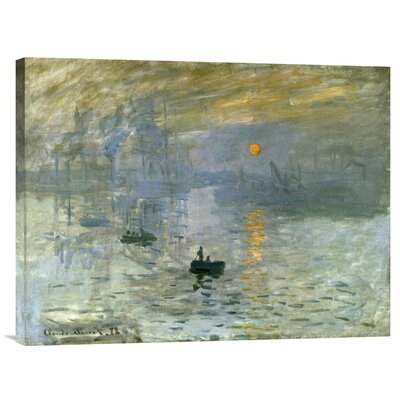 'Impression: Sunrise' by Claude Monet Painting Print on Wrapped Canvas GCS-278665-30