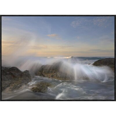 Wave Breaking, Playa Langosta, Guanacaste, Costa Rica by Tim Fitzharris Framed Photographic Print on Canvas GCF-396392-2432-175