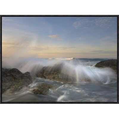 Wave Breaking, Playa Langosta, Guanacaste, Costa Rica by Tim Fitzharris Framed Photographic Print on Canvas GCF-396392-1824-175