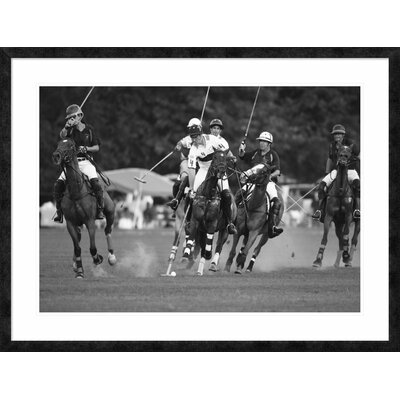 "'Polo players, New York' Framed Graphic Art Size: 33.56"" H x 44"" W x 1.5"" D DPF-463538-36-257"