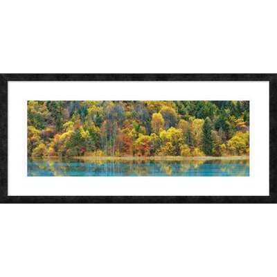 Lake and forest in autumn, China' by Frank Krahmer Framed Graphic Art DPF-463688-1236-257