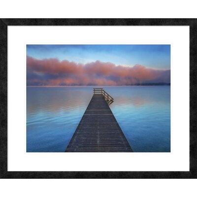 Boat ramp and fog bench, Bavaria, Germany' by Frank Krahmer Framed Graphic Art DPF-463584-1824-257