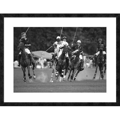 "'Polo players, New York' Framed Graphic Art Size: 29.3"" H x 38"" W x 1.5"" D DPF-463538-30-257"