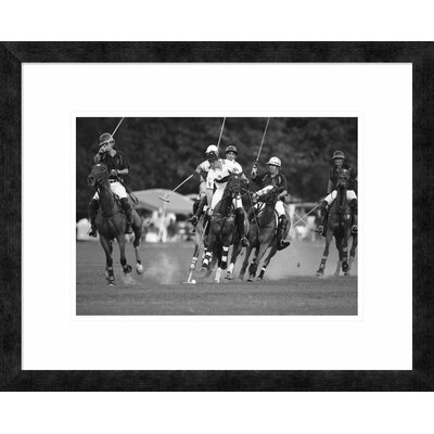 "'Polo players, New York' Framed Graphic Art Size: 19.36"" H x 24"" W x 1.5"" D DPF-463538-16-257"