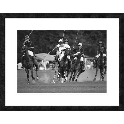 "'Polo players, New York' Framed Graphic Art Size: 23.62"" H x 30"" W x 1.5"" D DPF-463538-22-257"
