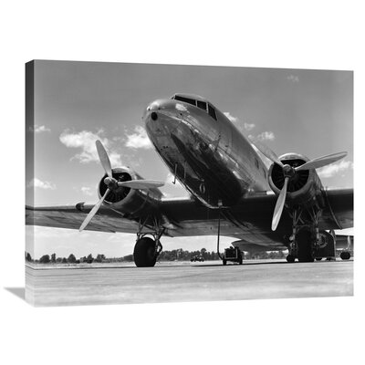 '1940s Passenger Airplane' by H. Armstrong Roberts Photographic Print on Wrapped Canvas GCS-463562-2432-142