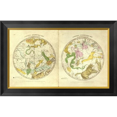 Circumpolar Map for each Month of the Year, 1835 by Elijah H. Burritt Framed Graphic Art on Canvas GCF-294991-22-131