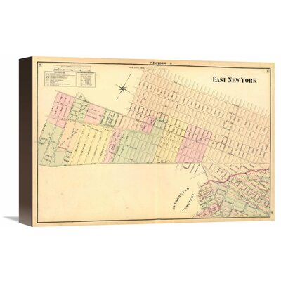 "East New York (Sec 9), 1874 by Henry Fulton Graphic Art on Wrapped Canvas Size: 11"" H x 16"" W x 1.5"" D"