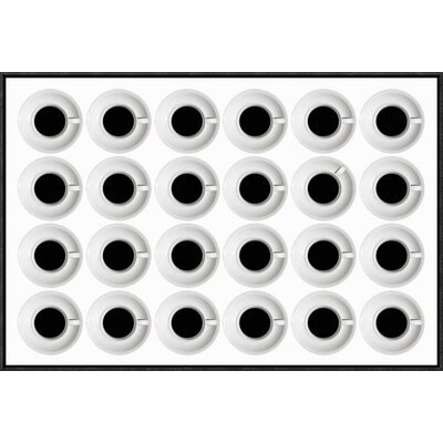 "'Cups' by Stefan Eisele Framed Graphic Art Size: 20.1"" H x 30"" W x 1.5"" D GCF-461917-30-175"