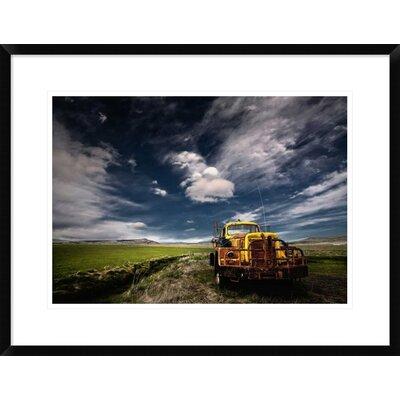 'Yellow Truck' by Thorsteinn H. Ingibergsson Framed Photographic Print DPF-462144-22-266