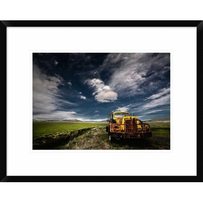 'Yellow Truck' by Thorsteinn H. Ingibergsson Framed Photographic Print DPF-462144-16-266