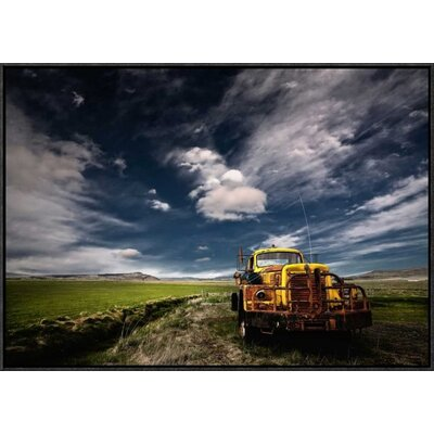'Yellow Truck' by Thorsteinn H. Ingibergsson Framed Photographic Print GCF-462144-30-175