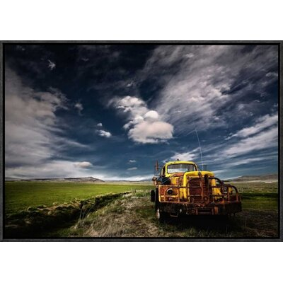 'Yellow Truck' by Thorsteinn H. Ingibergsson Framed Photographic Print GCF-462144-22-175