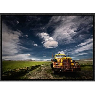 'Yellow Truck' by Thorsteinn H. Ingibergsson Framed Photographic Print GCF-462144-16-175
