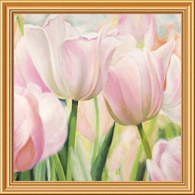 "'Primavera I' by Villa Framed Painting Print Size: 28"" x 28"" x 1.5"" D GCF-465785-2424-281"