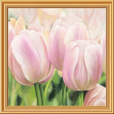 "'Primavera II' by Villa Framed Painting Print Size: 28"" x 28"" x 1.5"" D GCF-465786-2424-281"