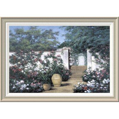 'Jardin De Fleur' by Diane Romanello Framed Painting Print GCF-393937-2030-336