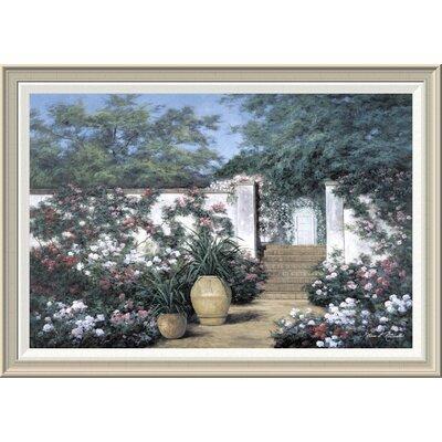 'Jardin De Fleur' by Diane Romanello Framed Painting Print GCF-393937-2436-336