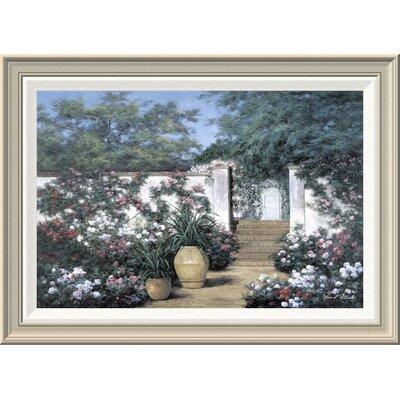 'Jardin De Fleur' by Diane Romanello Framed Painting Print GCF-393937-1624-336
