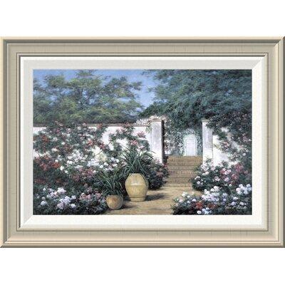 'Jardin De Fleur' by Diane Romanello Framed Painting Print GCF-393937-1218-336