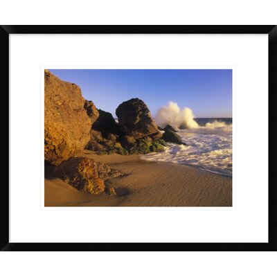 'Waves Crashing on Point Dume Beach, California' Framed Photographic Print DPF-396214-1216-266