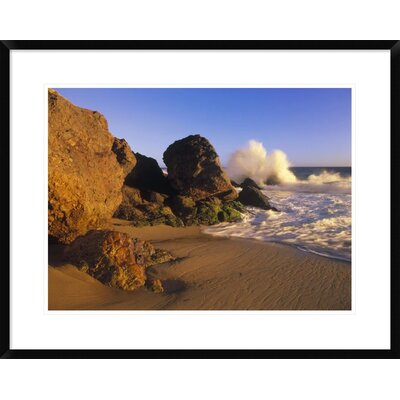 'Waves Crashing on Point Dume Beach, California' Framed Photographic Print DPF-396214-1824-266