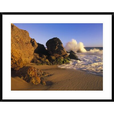 'Waves Crashing on Point Dume Beach, California' Framed Photographic Print DPF-396214-2432-266