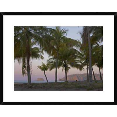 'Moon Setting, Playa Carillo, Guanacaste, Costa Rica' Framed Photographic Print DPF-396335-1824-266