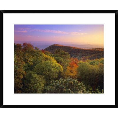 Blue Ridge Mountains with Deciduous Forests in Autumn, North Carolina by Tim Fitzharris Framed Photographic Print DPF-396763-1824-266