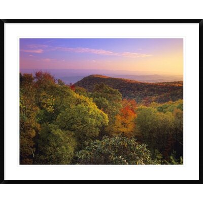 Blue Ridge Mountains with Deciduous Forests in Autumn, North Carolina by Tim Fitzharris Framed Photographic Print DPF-396763-2432-266