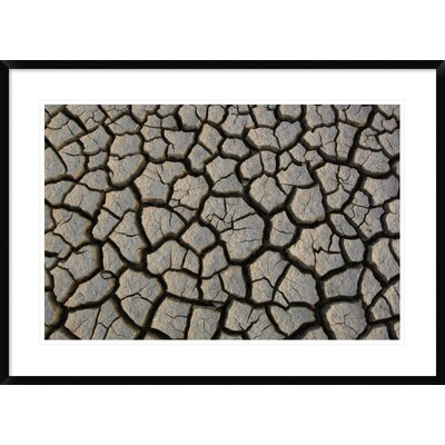 "'Cracked Mud on the Salt Flats of the Little Rann of Kutch, Gujarat, India' Framed Photographic Print Size: 26"" H x 36"" W x 1.5"" D DPF-397934-2030-266"
