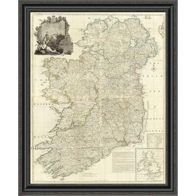 "'Composite: Ireland; 1790' Framed Print Size: 28"" H x 28"" W x 1.5"" D EUAH2074 39633477"