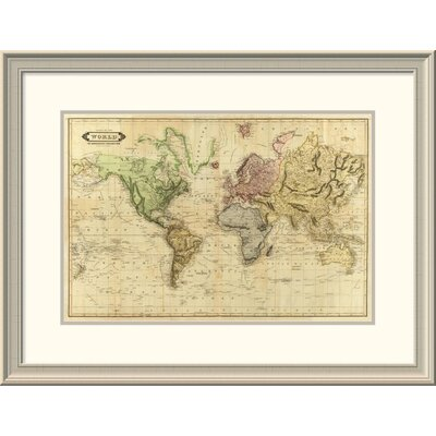 "'World, 1831' Framed Print Size: 23"" H x 30"" W x 1.5"" D EASN4520 39508853"