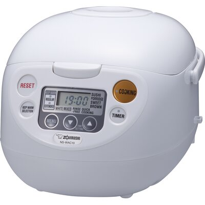 Zojirushi - Micom 5.5-Cup Rice Cooker - Cool White NS-WAC10WD