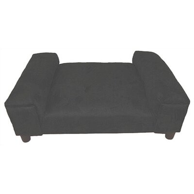 BioMedic Gustavo Dog Day Bed Size: XX-Large, Fabric: Faux Leather - Charcoal