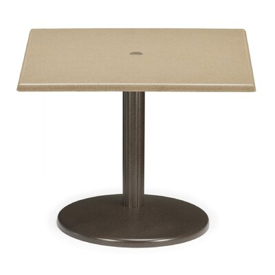 Werzalit Square Spun Pedestal Table