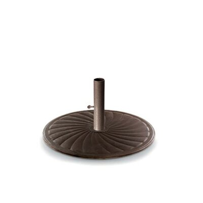 Round Cast Iron Free Standing Umbrella Base Finish: Textured Desert