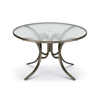 Obscure Acrylic Round Dining Table Finish: Textured Silver