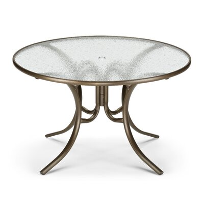 Obscure Dining Table Finish: Aged Bronze, Table Size: 48