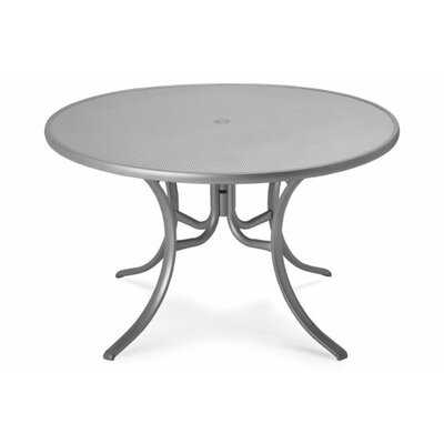 Embossed Aluminum Round Dining Table Finish: Textured Snow
