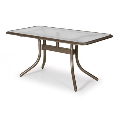 Glass Top Rectangular Dining Table