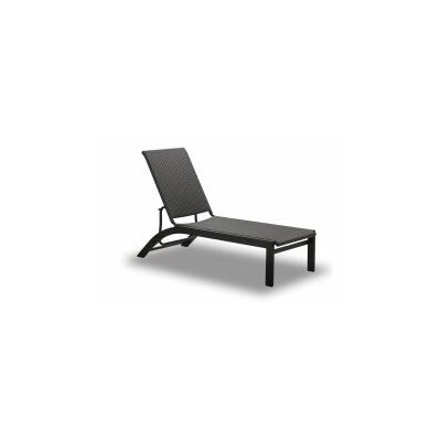 Kendall Stacking Chaise Lounge (Set of 2) Fabric: Java, Finish: Textured Silver