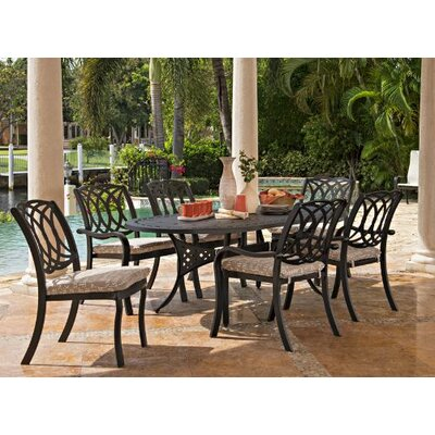 Ocala Outdoor Stacking Armless Chair Cushion Fabric: Atlantis