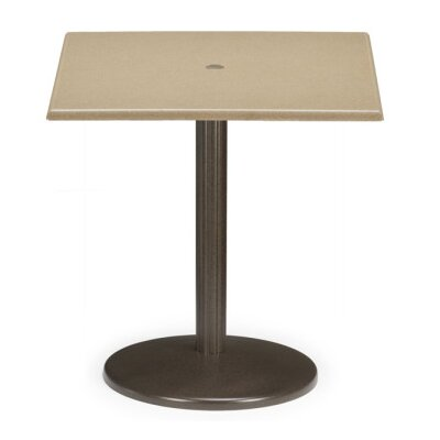 Werzalit Square Spun Pedestal Bar Table