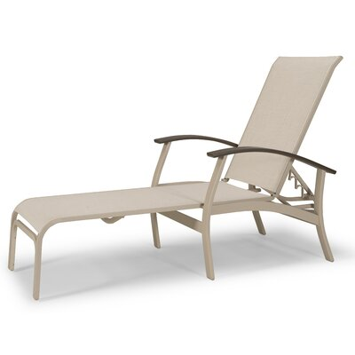 Belle Isle Marine Grade Polymer/Aluminum Sling 4 Position Lay-flat Chaise Lounge