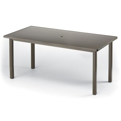 Aluminum Slat 84 Rectangular Table