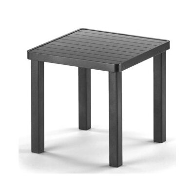 Aluminum Slat Square End Table Finish: Textured Snow