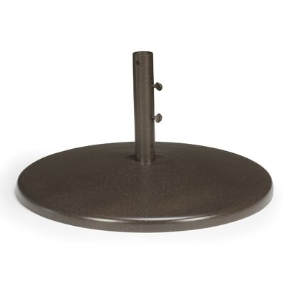 Round Powder Coated Aluminum Fillable Free Standing Umbrella Base Finish: Textured Beachwood