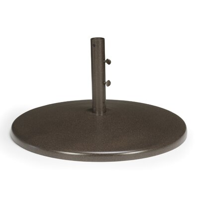 Round Spun Aluminum Free Standing Umbrella Base Finish: Textured Beachwood