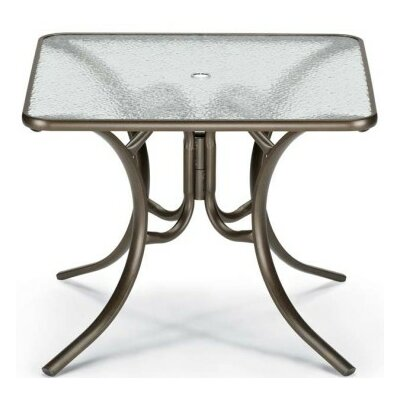 Obscure Acrylic Square Dining Table Finish: Textured Silver